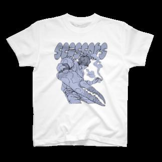 ねこぜもんのScissors (前面)  T-shirts