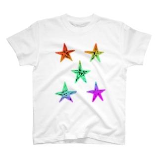 散らした星 T-shirts