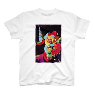 ユニコーンアートFLOWER T-shirts