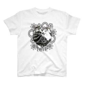 ビュートとライクのLOVEスタイル T-shirts