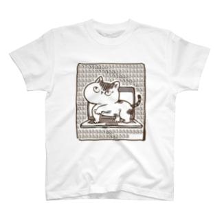 キーボードクラッシュキャット T-shirts