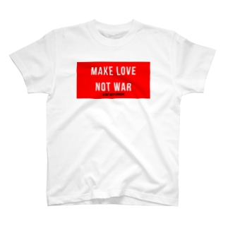 MAKE LOVE NOT WAR T-shirts