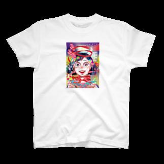 にくまん子の【魂の産物に百億回いいねしました】 T-shirts