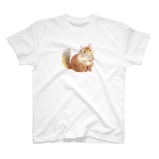 もふもふネコさん Tシャツ