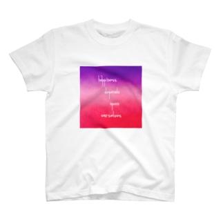 posiグラデーションメッセージ T-shirts