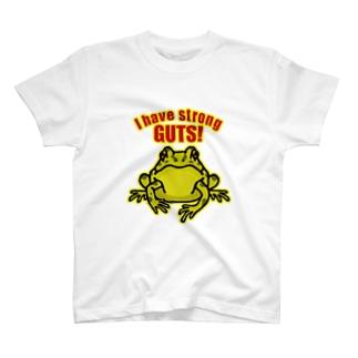 根性のあるカエルTシャツ T-shirts