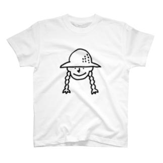 帽子の女の子 T-shirts