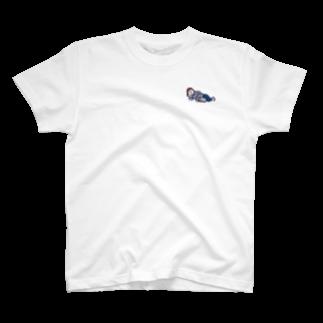 ナウい6Tショップのネコと寝る T-shirts