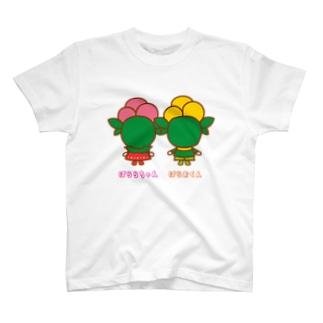 後頭部ばららちゃんばらおくん T-shirts