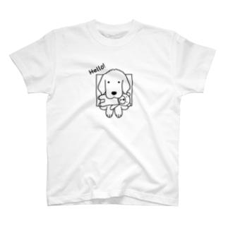 ハロー!線画(両面) T-shirts