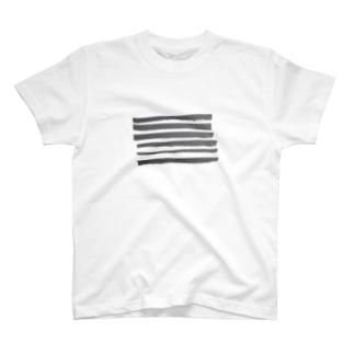 ボーダー 黒 T-shirts