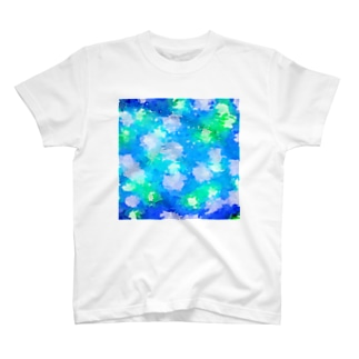 青緑真四角 T-shirts