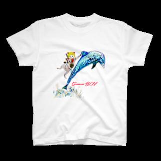 Rock catのSAMURAI BOY イルカ T-shirts