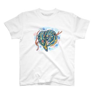 アオウミウシカップル Tシャツ