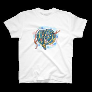 mami-skのお魚グッズ屋〜SUZURI店〜のアオウミウシカップル T-shirts
