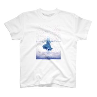 闇が降る雪原 T-shirts