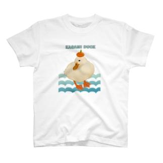 鏡モチアヒル T-shirts