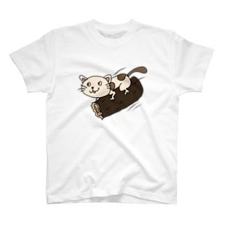 おできちゃんのとぶねこ T-shirts