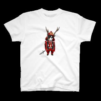 Dog Drawer Drawn by Dogの武将シリーズ。バーニーズバージョン T-shirts