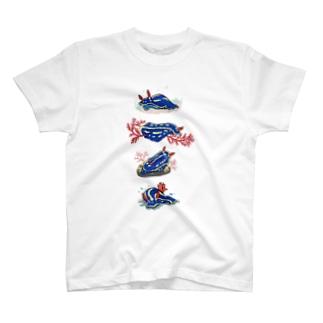 いろいろアオウミウシ T-shirts