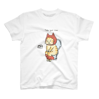 トイレねこ・オレンジ T-shirts