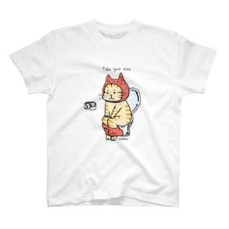 トイレねこ オレンジ T-shirts