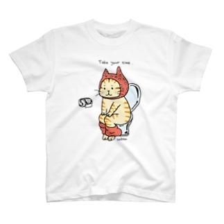 トイレねこ オレンジ T-Shirt