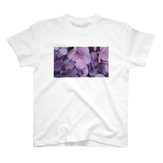 家の庭のあじさい T-shirts