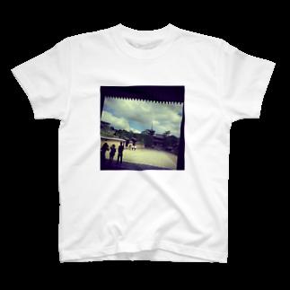 ならばー地亜貴(c_c)bの世界遺産「法隆寺」 T-shirts