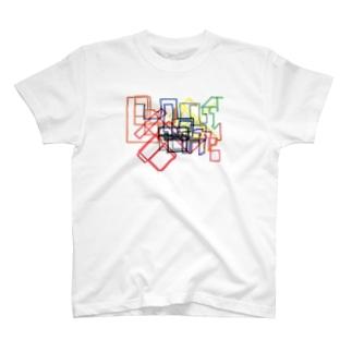KんばんHもNKA.の駅のマップ T-shirts