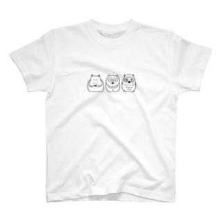 Hipporaccowl(ヒポラカウル)黒 T-shirts