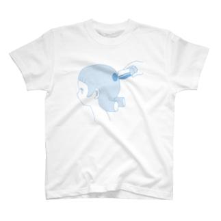 抜けてた(みずいろ) Tシャツ