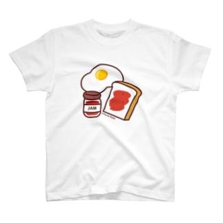 パンとジャムと目玉焼き T-Shirt