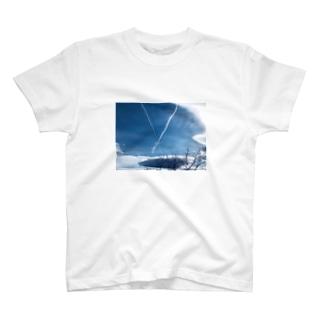 ひこうき雲(文字あり) T-shirts