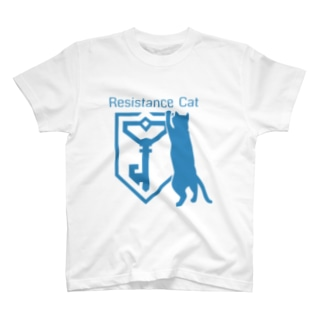 RESISTANCE CAT T-shirts