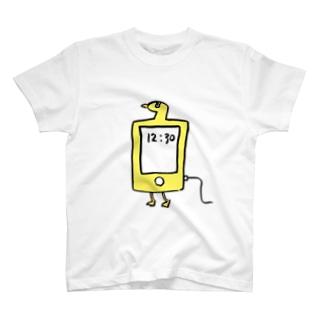 スマホ鳥 T-shirts