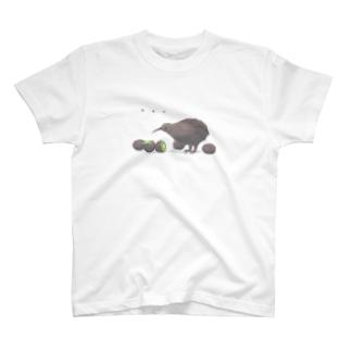 キウイとキーウィ T-shirts