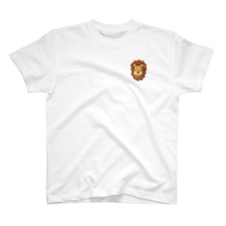 刺繍 ライオン2 T-shirts