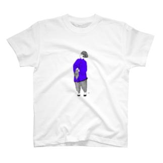 チャイニーズガールブルー T-shirts