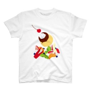 フォーリングプリンアラモード T-shirts