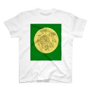 JUNSENSETA(瀬田純仙)文明7円盤の石碑 T-shirts