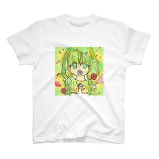花と女の子 T-shirts