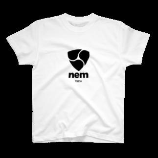 OWLCOIN ショップのNEM ネム T-shirts
