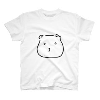 ぽったりモルモット 黒線・透過Ver. T-shirts
