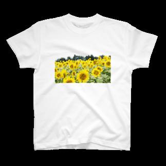 YOBULLCOの向日葵 T-shirts
