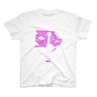 星の窓(ピンク) Tシャツ