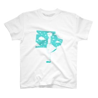 星の窓(ブルー) T-shirts