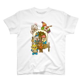 道に迷った勇者コメビツくん一行 T-shirts