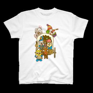 コメビツくんの道に迷った勇者コメビツくん一行 T-shirts