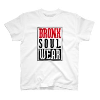 BRONX RIDE ON ブラックプリント T-shirts
